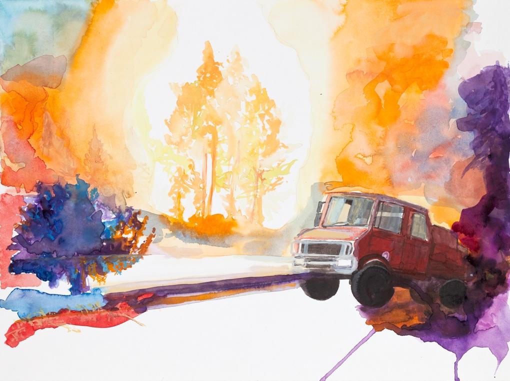 6. untitled (Waldbrand) , 2007, 30x40 cm, watercolor on paper.jpg