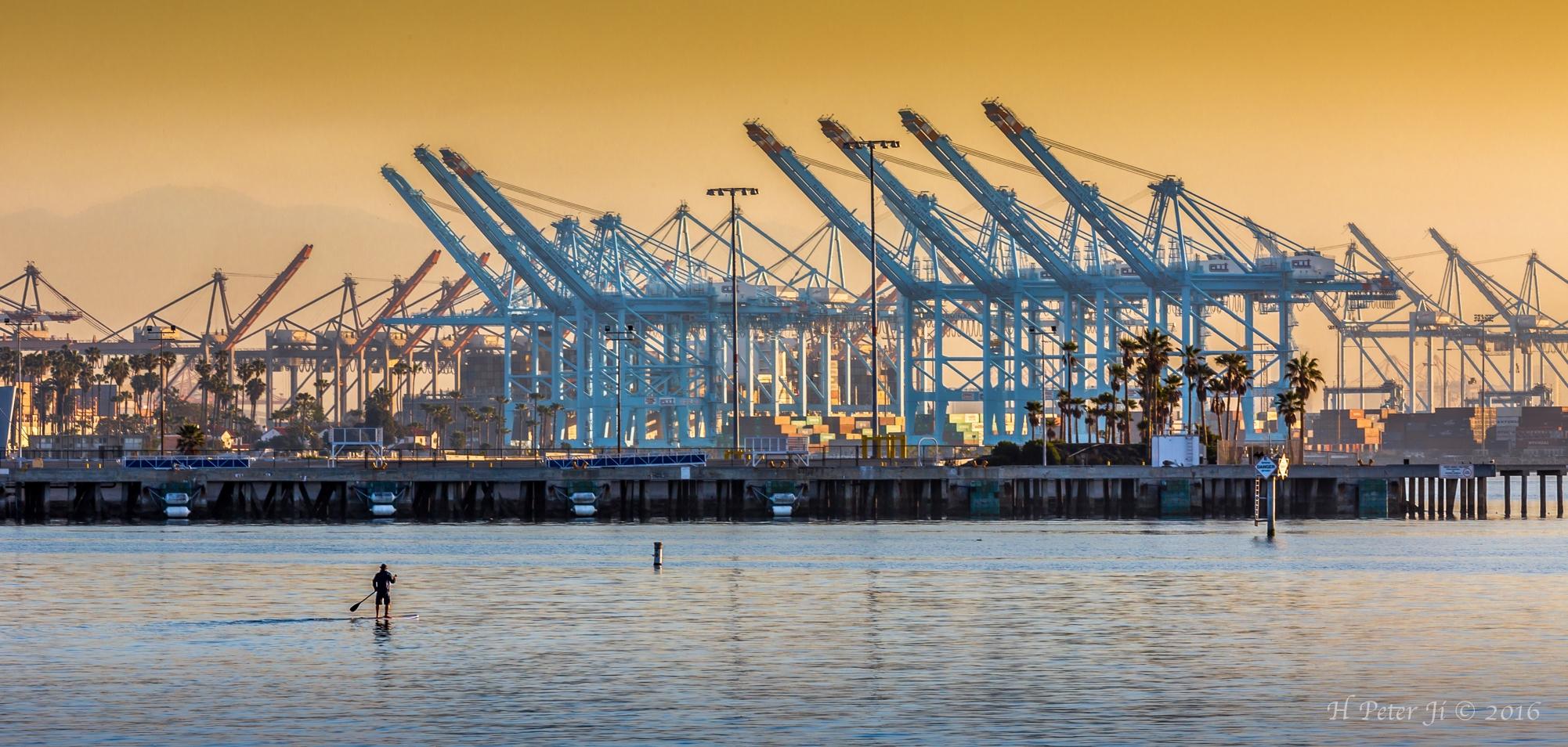 Paddling by Cargo Cranes.jpg