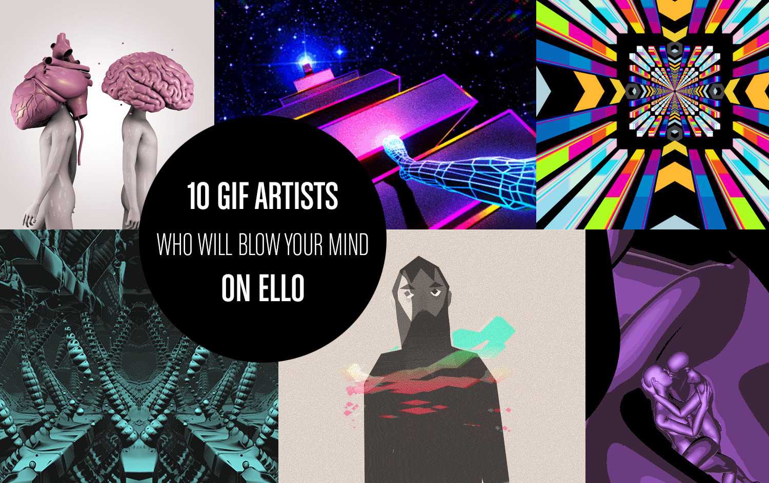 + feature: 10 GIF Artists Blow  - scene360 | ello